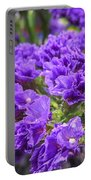 Purple Statice Flower Arrangement Portable Battery Charger