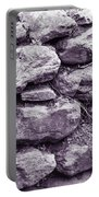 Purple Stone Wall Portable Battery Charger