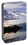 Purple Sunrise Clouds Portable Battery Charger
