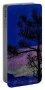 Purple Sunset Bay Portable Battery Charger