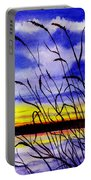 Purple Sunset Portable Battery Charger