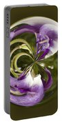 Purple Swirl Orb Portable Battery Charger