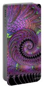 Purple Swirl Portable Battery Charger