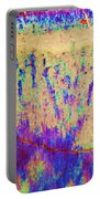 Purple Tan Stone Abstract Portable Battery Charger