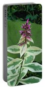 Purple Tipped Flower Portable Battery Charger