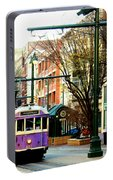 Purple Trolley Portable Battery Charger