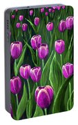 Purple Tulip Field Portable Battery Charger