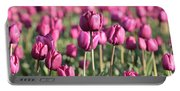 Purple Tulip Standouts Portable Battery Charger