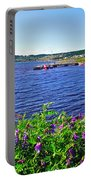 Purple Vetch Overlooking Rocky Harbour-nl Portable Battery Charger