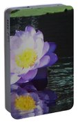 Purple White Yellow Lily Portable Battery Charger