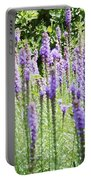 Purple Wild Flowers 2 Portable Battery Charger