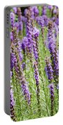 Purple Wild Flowers3 Portable Battery Charger