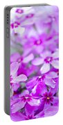 Purple Wildflower Portable Battery Charger