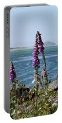 Purple Wildflowers At Netarts Bay Portable Battery Charger