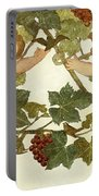 Putti Frolicking In A Vineyard Portable Battery Charger by Phoebe Anna Traquair