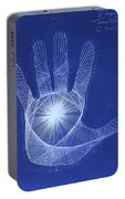 Quantum Hand Through My Eyes Portable Battery Charger