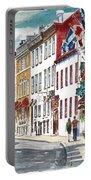 Quebec Old City Canada Portable Battery Charger by Anthony Butera