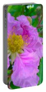 Queen Flower Or Giant Crepe Myrtle Flower Portable Battery Charger by Lanjee Chee