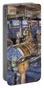 Queen Mary Ocean Liner Bridge 01 Photo Art 02 Portable Battery Charger