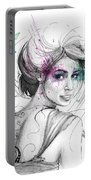 Queen Of Butterflies Portable Battery Charger by Olga Shvartsur