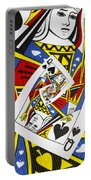 Queen Of Spades Collage Portable Battery Charger