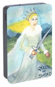 Queen Of Swords Portable Battery Charger