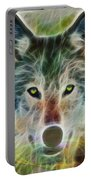 Quiet Majesty - Square Fractalized Version Portable Battery Charger