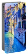 Quiet Morning In Venice Portable Battery Charger