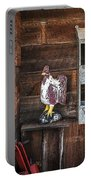 Quiet Rooster Wood Carved Portable Battery Charger