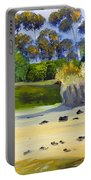 Quiet Sand By The Creek Portable Battery Charger