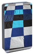 Quilt Blue Blocks Portable Battery Charger