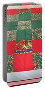 Quilt Christmas Blocks Portable Battery Charger by Barbara Griffin