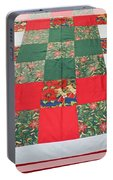 Quilt Christmas Blocks Portable Battery Charger