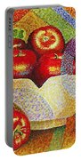 quilted Apples Portable Battery Charger