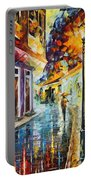 Quito Ecuador - Palette Knife Oil Painting On Canvas By Leonid Afremov Portable Battery Charger