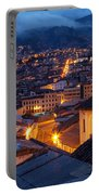 Quito Old Town At Night Portable Battery Charger