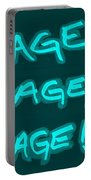 R R R Turquoise Portable Battery Charger