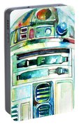 R2-d2 Watercolor Portrait Portable Battery Charger