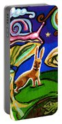 Rabbits At Night Portable Battery Charger