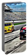 Race Car Track View Portable Battery Charger