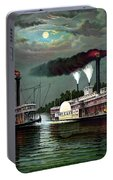 Race Of The Steamers Robert E Lee And Natchez Portable Battery Charger