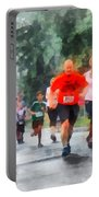 Racing In The Rain Portable Battery Charger by Susan Savad