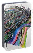 Racing The Wind ... A Story Painting Portable Battery Charger