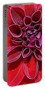 Radiant In Red - Dahlia Portable Battery Charger