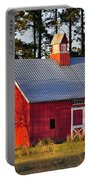 Radiant Red Barn Portable Battery Charger