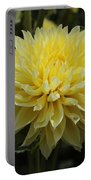Radiant Yellow Dahlia Portable Battery Charger