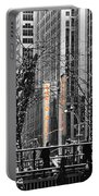 Radio City At Christmas - Black And White Portable Battery Charger