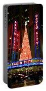 Radio City At Christmas Time - Holiday And Christmas Card Portable Battery Charger