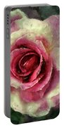 Ragged Satin Rose Portable Battery Charger