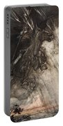 Raging, Wotan Rides To The Rock! Like Portable Battery Charger by Arthur Rackham